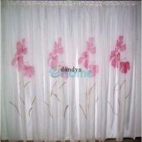 Wholesale 150 x225cm Fashion Home Decor Curtain Handmade Inkjet Flower Window Screen Sheer dandys