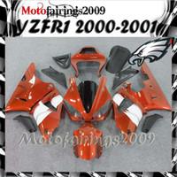Wholesale orange ABS Fairings for yamaha YZFR1 YZF R1 E36 Fairing Kit W10 Fit for yamaha YZF R1 YZF R1