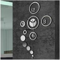 Wholesale Creative D DIY Home Modern Decoration Crystal Mirror Living Room Wall Clock dandys