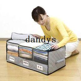 3 Case Bamboo Charcoal Folding Clothes Blanket Storage Organizer Box Bag Closet#31564, dandys