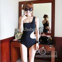 Cheap Women Swim Wear Bikini Size S M L XL Black Color Korea Style 2013 Summer Shipping 0520
