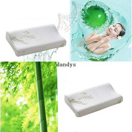 Wholesale New Hot x cm Bamboo Fiber Slow Rebound Memory Foam Bed Pillow Cervical Health Care dandys
