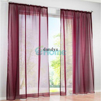 drapes curtains - 150 x cm Sheer Voile Window Treatment Scarf Panel Curtain Drape Scarf Wedding dandys