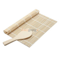 Wholesale EA14 Sushi Rolling Roller Bamboo Material Mat Maker DIY and A Rice Paddle