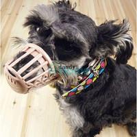 basket dog muzzle - Adjustable Plastic Pet Care Dog No Bite Basket Mesh Mask Mouth Muzzle Cage dandys