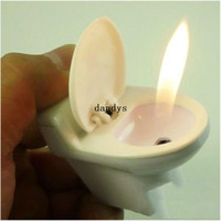 Wholesale Hot Novelty Toilet Shape Refillable Lighter Butane Gas Cigarette Cigar Flame Lighter dandys