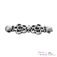Wholesale Connectors Findings Flower Antique Silver Can Hold ss12 Rhinestone mm x mm B35964