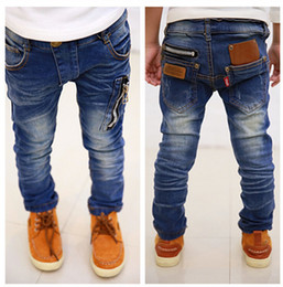 Wholesale Hot sale new children s clothing boys wild baby jeans children trousers