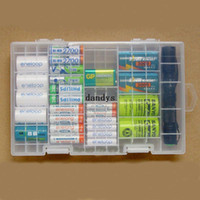 battery storage rack - Multi function AAA AA C D V Battery Storage Holder Plastic Case Box Hard Rack dandys