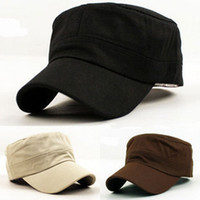 Wholesale Flat military hat and caps men s hats light board casual outdoor hat hats for women spring autumn
