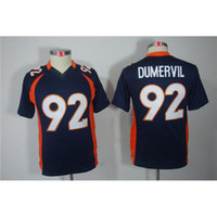Cheap 2014 New Style Football Jerseys #92 Elvis Dumervil Navy Blue Limited Youth American Football Jerseys Cheap Teams Football Uniforms Mix Order