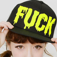 Cheap ZS574 Korean version of the influx of men and ladies FUCK letters spell color baseball cap hip-hop hat