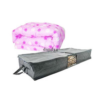 Wholesale Hot Sale L Bamboo Clear Window Charcoal Blanket Clothes Storage Bag Box Non Woven dandys