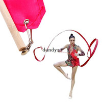 Wholesale Gym Dance Ribbon Rhythmic Art Gymnastic Streamer Baton Twirling Rod M dandys
