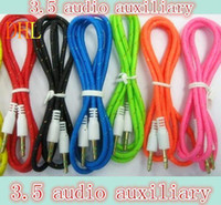 Wholesale DHL mm audio auxiliary m feet lead the Iphone c s Ipod speaker phone