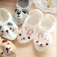 Wholesale Spring summer Korea new cute cartoon Panda rabbit cotton ladies stealth boat socks