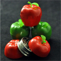 apple crusher - Hot Apple Shaped Herbal Herb Tobacco Grinder Smoke Metal Crusher Hand Muller dandys