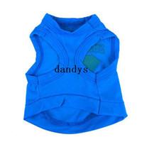 Wholesale Summer Pet Puppy Dog Coat Superman T shirt Shirt Printed Vest Dress Clothes XS dandys