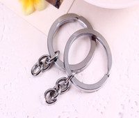 Wholesale DHL Fashion Silver Band Chain key Ring DIY Accessories Material Accessories