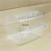 Wholesale 100Pcs Clear Cake Cookies Single Container Pod Cupcake Box Hamburger Case dandys