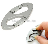Cheap FD984 Aluminum Carabiner Snap Clip Hook Keychain Hiking Climb Bottle Buckle 1pc