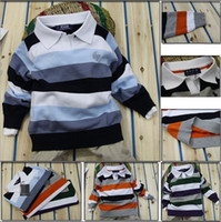 Wholesale 2014 Retail Fashion children s casual striped sweaters new brand name polo baby boys long sleeve pullover autumn kids clothes