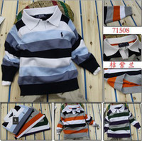 Wholesale new Retail Children s casual striped sweaters brand name polo baby boys girls long sleeve pullover autumn kids clothes
