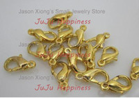 Cheap Free Shipping!10mm Gold Plated Metal Lobster Clasps 1000pcs lot jr1025