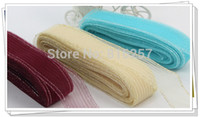 Wholesale Free ship colors quot CM with silver trimming shrink Crinoline horsehair braids hair accessories yards