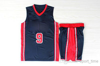 Wholesale Michael Olympic USA Dream Team Basketball Jersey with Shorts Navy Blue Layers Embroidered Revolution Champion Bas