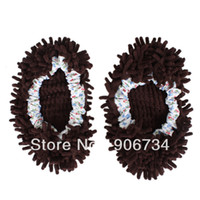 Wholesale Coffee Mop Slippers Cleaning Dusting Foot Shoes Floor Polishing Cover
