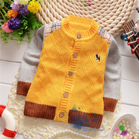 Cheap Spring Autumn Korean Children baby boys Chest standard M word puppy sweater coat,sweaters cardigans,V1181