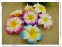 Wholesale cm colors foam hawaiian Plumeria flower Frangipani Flower DIY accessories hand craft flower pieces