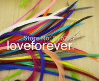 Wholesale Dyed single feather Hair Extension Acc Dyed Single Goose Biots Loose Feathers for fascinators sinamay hat mask