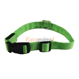 2017 m seguridad Collar de perro CC14 2.5cm LED de seguridad para mascotas Noche de luz intermitente hasta Green Collar M m seguridad en venta
