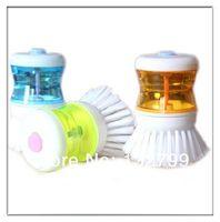 Wholesale Kitchen Pot Pan Cleaning Scrubber Brush Liquid Soap Dispensing Brush Dish Washing Tool