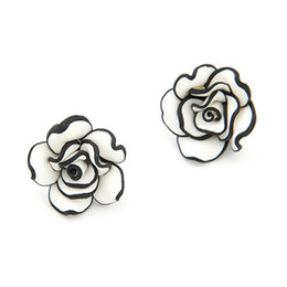 New 2014 Korean Fashion Sweet Flower Stud Earrings For Women brincos Accessories fashion jewelry Wholesale