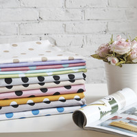 Wholesale 50CMx40CM Colors Assorted quot Big Polka Dots quot Fat Quarters Cotton Fabric Patchwork Tilda Scrapbooking Fabric for Sewing