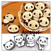 Wholesale 4X Panda Sandwich Cookies Cutter Mold Biscuit Bread Cake Pastry Mould Sugarcraft Tool Set