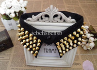 Wholesale Lady Collar Punk Rivets Style New Gold Silver Color Piece F1