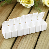 other other Eco Friendly 1pc One Week 7-days small Medicine Pill Drug Box Pill Drug Mini Pillbox Container Non-removable plastic Case