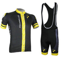Wholesale pinarello cycling jersey with men s short sleeve cycling top and bicycle bib pants