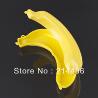 Cheap 1 pcs Useful Yellow Banana Protect Guard Container Case For Trip Picnic StudentS and Office WorkerS New Hot Selling
