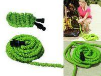 Cheap 1set Green 75ft Flexible Expandable Garden Water Pocket Hose With Spray Good Nozzle Head