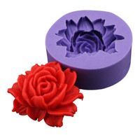 fondant roses - Hot Sale D Rose Flower Fondant Cake Chocolate Sugar Craft Mold Cutter Silicone Tools DIY Drop Shipping HG