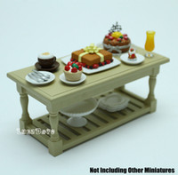 Wholesale Miniature Display Living Room Table Kitchen Furniture Dollhouse Fit Orcara Toys Doll Accessories