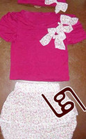 Cheap Wholesale-Baby T-shirt Baby pants 3pieces Baby Clothing Set girl clothes H072