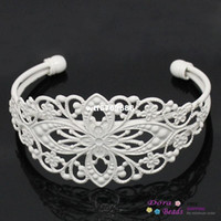 Wholesale Copper Bangles Bracelets Flower White cm long B27835