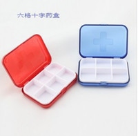 Wholesale 2014 home travel kit dedicated cross six grid pill storage box