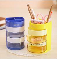Wholesale multi colorful fuctionbucha plastica containter zawuhe caneta container escova cilindro